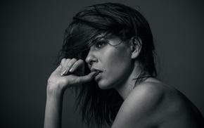 monochrome, girl, Marine Vacth, model