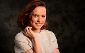 brunette, girl, actress, Daisy Ridley