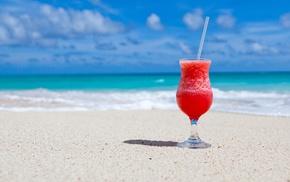 beach, tropical, cocktails, sand