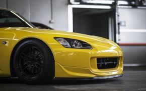 car, JDM, tuning, honda s2000, yellow cars