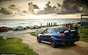 Mitsubishi Lancer, JDM, beach, car, Speedhunters, evo