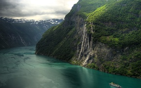 Norway, landscape, river, waterfall