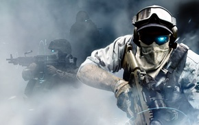 smoke, tactical, special forces, machine gun, Ghost Recon, SCAR