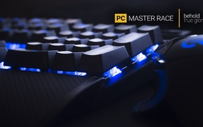 PC gaming, hardware, keyboards, technology, computer mice, Master Race
