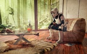 Star Wars, Endor, AT, ST, scout trooper