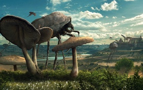 insect, The Elder Scrolls III Morrowind, coexist, nature, Parasite, science fiction