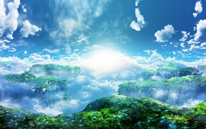 landscape, Sun, nature