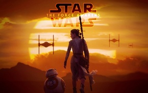 Star Wars Episode VII, The Force Awakens, BB, 8, Star Wars, Daisy Ridley