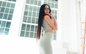juicy lips, long hair, skinny, girl, ass, Ivan Gorokhov