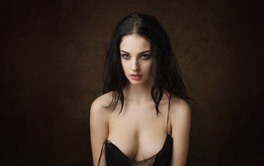 simple background, Alla Berger, girl, Maxim Maximov, model, portrait