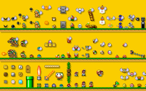 video games, Super Mario Bros., retro games, simple background, Nintendo Entertainment System, Mario Bros.