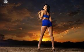 ass, portrait, Jasmin Garcia, Miguel Vazquez, shorts, back