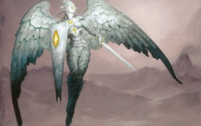 Brom, Magic The Gathering, fantasy art, platinum Angel