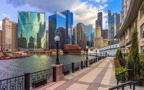 urban, Chicago, cityscape