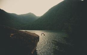 jumping, landscape