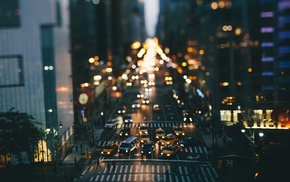 traffic, tilt shift, city