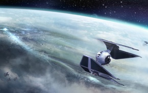 space, Star Wars, TIE Interceptor