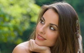 smiling, face, girl, Lorena Garcia