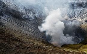 smoke, volcano, landscape, nature, Poison, Mount Bromo