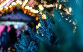 urban, christmas lights
