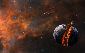 fantasy art, planet, space art