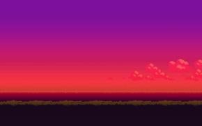 16, bit, sunset, Pokemon, pixel art
