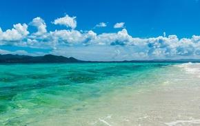 sea, beach, sunny beach, multiple display
