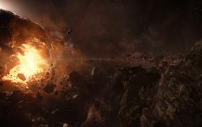 Star Citizen, asteroid, space