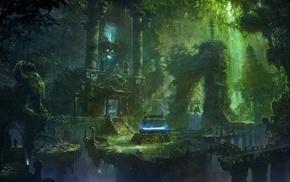 imagination, green, temple