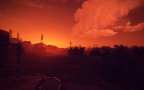 rust, sunset
