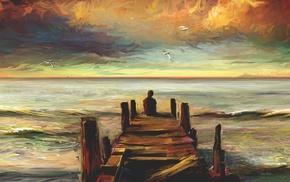 pier, artwork