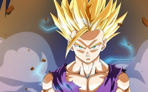 Super Saiyan 2, Dragon Ball, anime, Son Gohan, Dragon Ball Z, Super Saiyan