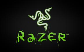 typography, Razer, logo, gradient