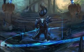 League of Legends, Yasuo League of Legends, fantasy art