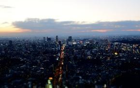 urban, tilt shift, Tokyo, Japan