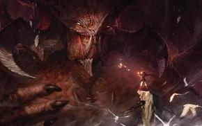 fantasy art, dragon