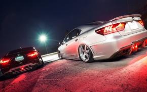 cars, drag, night, Lexus