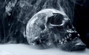 skull, smoke