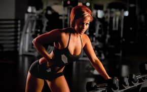 fitness model, Bry Jensen, working out, sports, girl