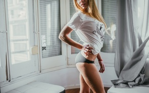 ass, pants, blonde, model, panties, Nask Nach