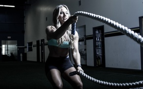 working out, ropes, fitness model