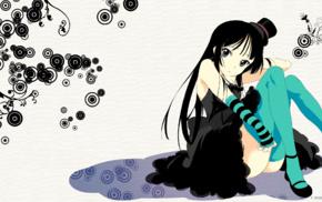 anime girls, K, ON, Akiyama Mio, anime, thigh