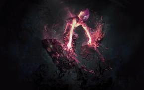 summoner, video games, anime, black, Vi, Riot Games