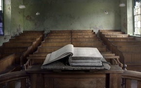 dust, vintage, wood, desk, chapel, dirt