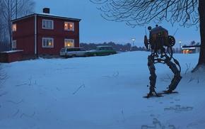 science fiction, artwork, Simon Stlenhag