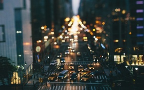 New York City, taxi, street, traffic, car, tilt shift