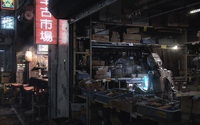 futuristic, robot, science fiction