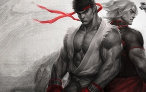 Street Fighter, Ryu Street Fighter, video games, Street Fighter V, artwork, Ken Street Fighter