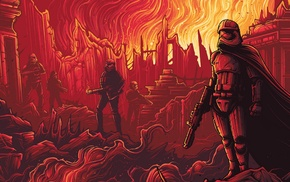 Star Wars, burning, stormtrooper