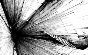 manga, stairs, Tsutomu Nihei